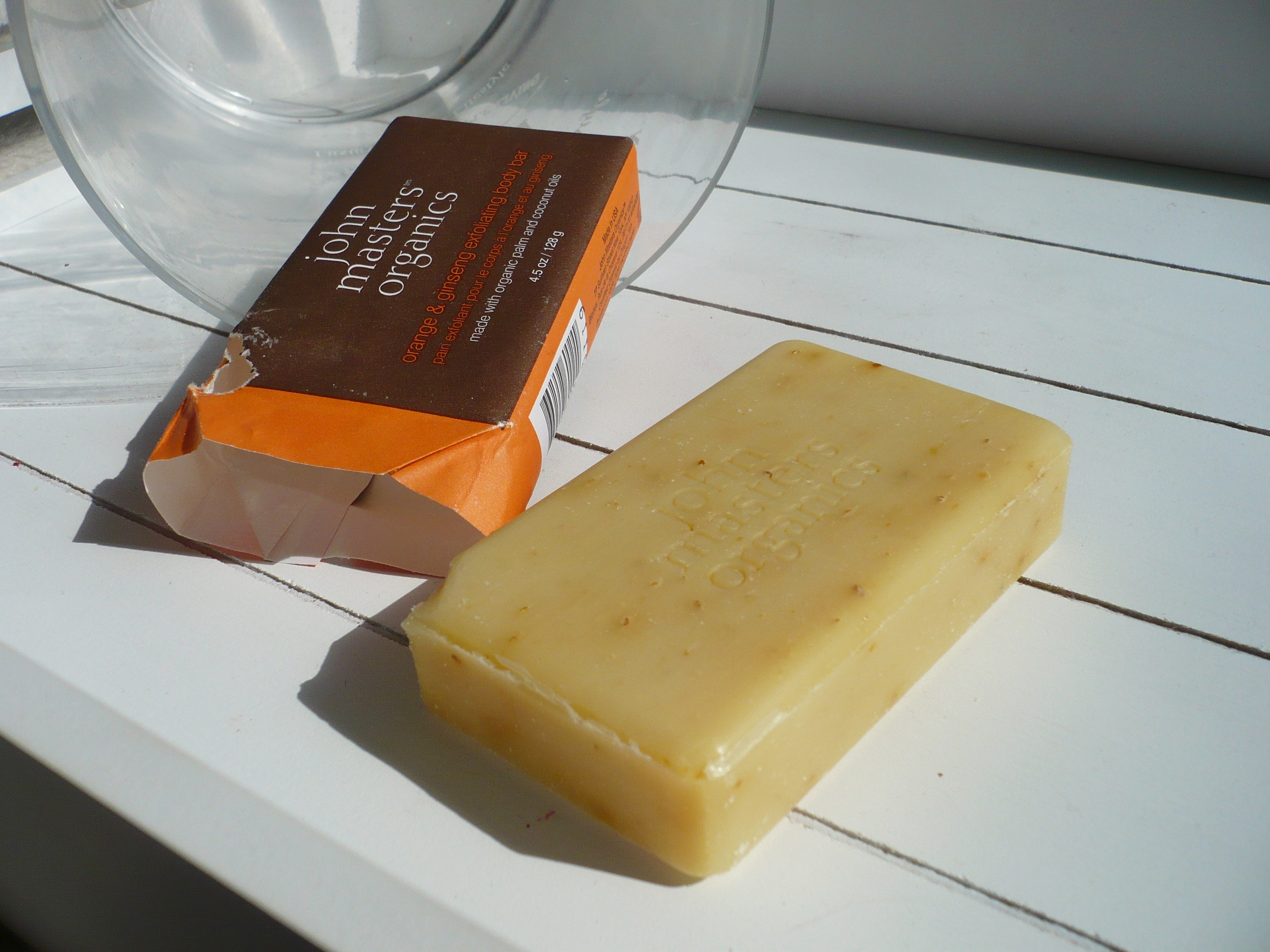 savon exfoliant orange et ginseng