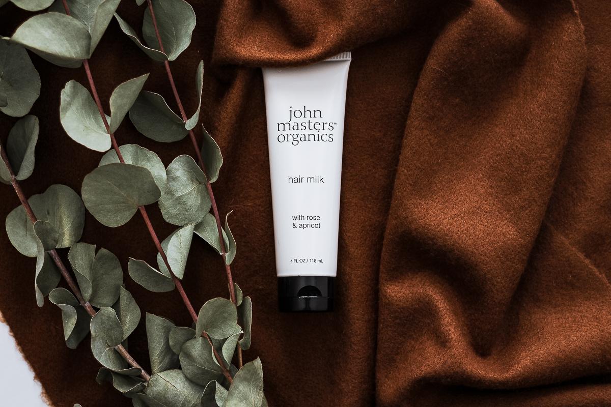 Lait bio pour cheveux rose & abricot, John Masters Organics